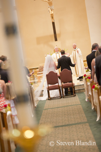 Wedding at St Paul Catholic Church